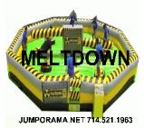 meltdown mechanical inflatable game