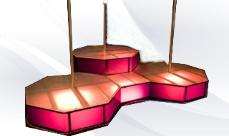 Menage a trois triple stripper poles and stages
